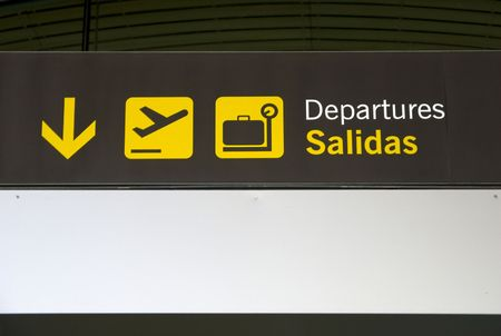 barajas: Sign indicative gate airport