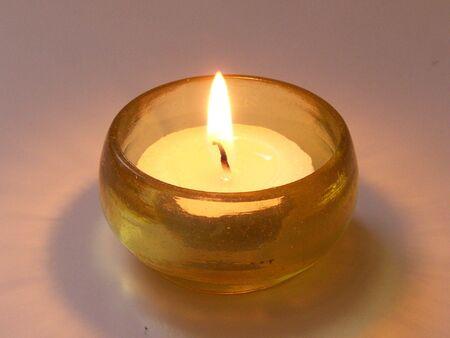 Yellow candlelight photo
