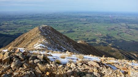 canterbury: Mt Somers Sommet piste et plaines de Canterbury, Mount Somers Piste, Canterbury, Nouvelle-Z�lande