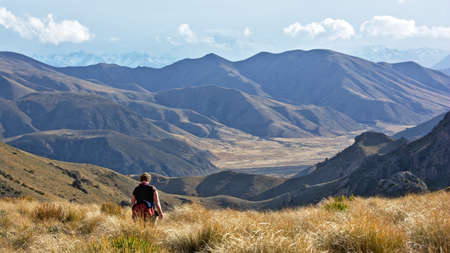 tramping: Open country, Mount Somers Track, Canterbury, New Zealand