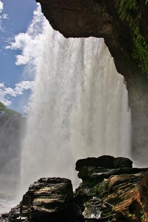 mesas: Behind Waterfall S�o Rom�o, Chapada das Mesas, Maranh�o, Brazil