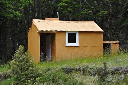 tramping: Spence Hut, Takitimu Mountains, Southland, New Zealand Stock Photo