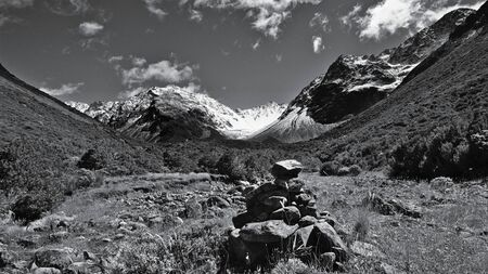 cairn: Cairn in Upper South Temple Valley, Canterbury, New Zealand