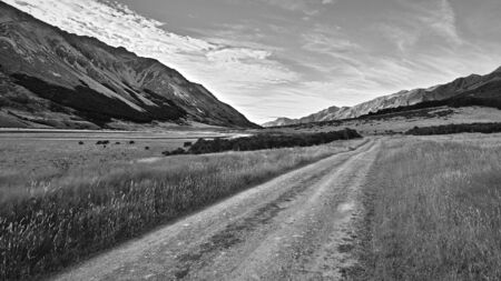 4wd: Ahuriri Valley at public road end, Canterbury, New Zealand