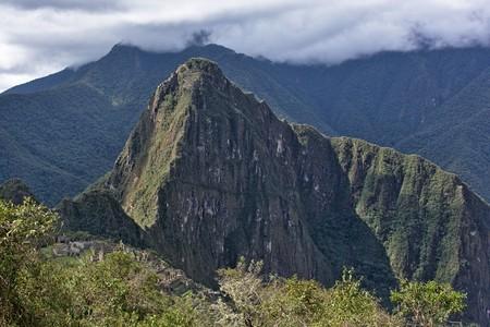 cusco: Huayna Picchu mountain, Machu Picchu, Cusco, Peru Stock Photo