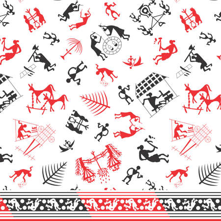 old village culture pattern background