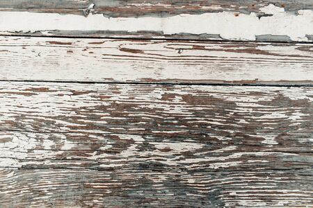 Light wooden background. Texture of old white wood table. Фото со стока