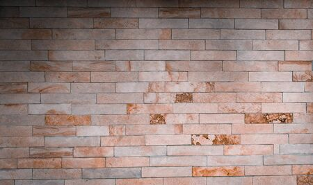 Light brick wall texture. Background small brick with imitation of marble.
