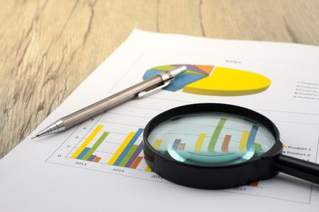 販売の分析チャートおよびグラフ-成功した企業