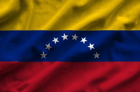 bandera de venezuela: Flag of Venezuela. Flag has a detailed realistic fabric texture.