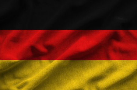 Flag of Germany. Flag has a detailed realistic fabric texture.
