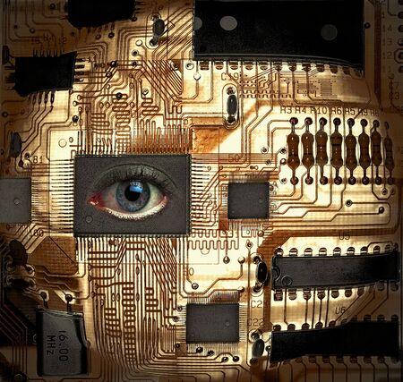 EyeSee - Circuit Board with Human Eye