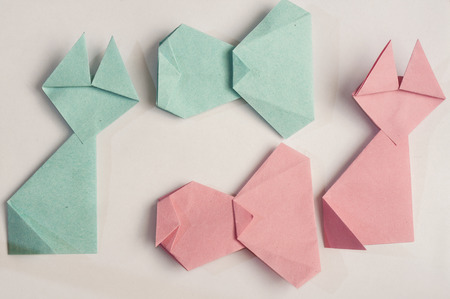 Origami animals and objects photo