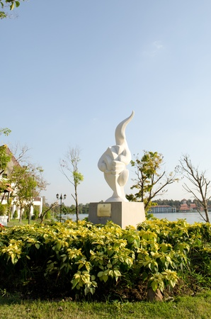 ChiangMai province Thailand Modern Sculpture.ChiangMai province Thailand Modern Sculpture Show in ChiangMai public Garden in ChiangMai Thailand.