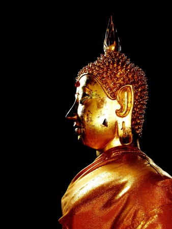 The Golden Buddha Statue in ChiangMai temple, Thailand.