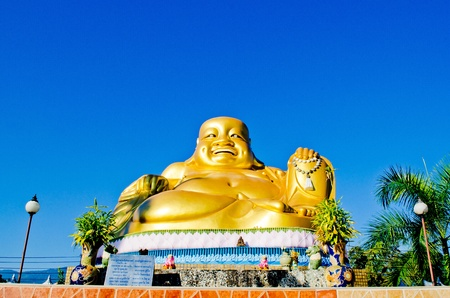 Big Golden Buddha Image  Statue at Maerim district , Chiangmai,Thailand.