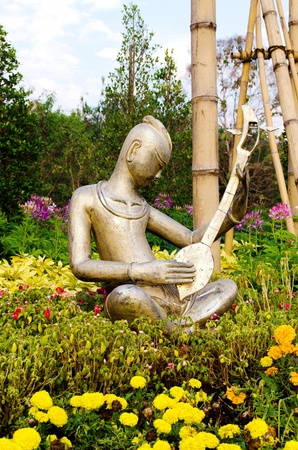 The musician image show at  ChiangMai public Garden or  Show in The Miracle Flora 2011 at ChiangMai ,Thailand.