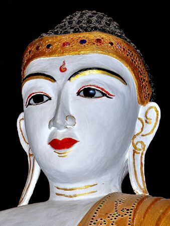 The White face Buddha Statue in ChiangMai,TH.