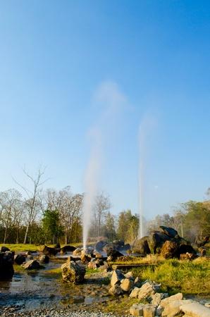 Hot fountain in Chiangmai, Thailand. (SanKamphaeng hot fountain) Chiangmai province, Thailand.