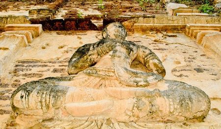 wat jedyod: The guardian deity or angel stucco on ancient pagoda at wat jedyod Chiangmai, Thailand. Stock Photo