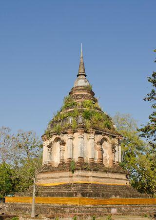 Chiangmai ancient pagoda at wat Jedyod.