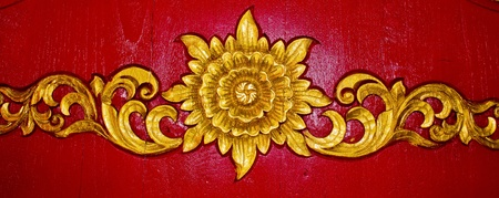 Thai carve on the wall in the temple, Chiangmai, Thailand.