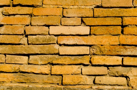 � Close-up detail of red brick wall texture  Stock Photo