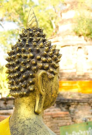 Golden buddha image in the Chiangmai Jedyod temple.TH.