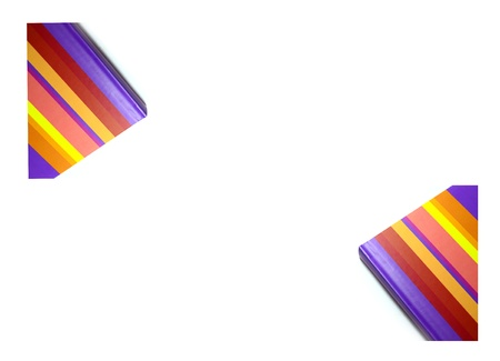 Multicolored  Notebook on white background  Stock Photo