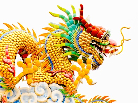 golden Dargon in Chiangmai Thailand  Stock Photo