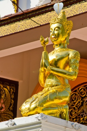 Thai antique  god at image temple in Chiangmai  Stock Photo