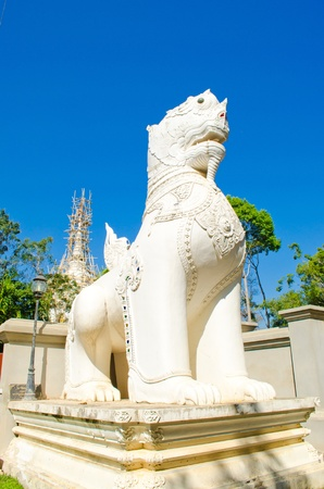 Thai King-lion antique in the temple