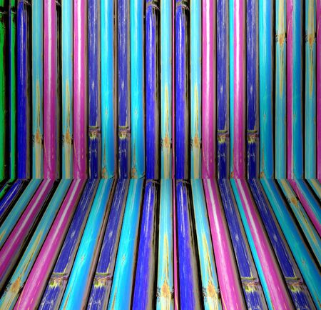 Colorful of Bamboo perspective, texture  Stock Photo