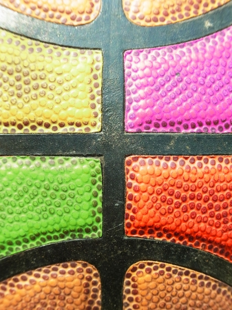 Close up Basketball surface are colorful or texture                                              Stock Photo