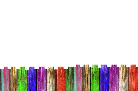 Colorful of Old  wooden board, Isolate, for background