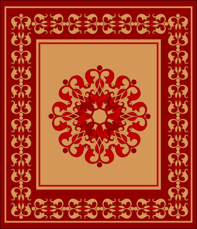 floral carpet: carpet