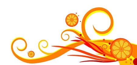 oranges and swirls