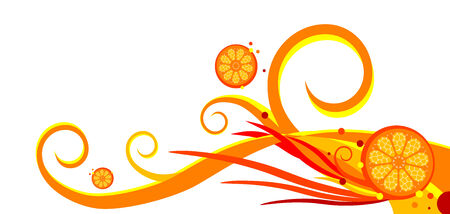 oranges and swirls