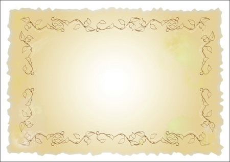 old paper with floral design Vector