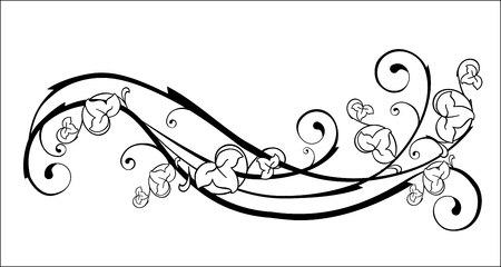 vine border: floral element Illustration