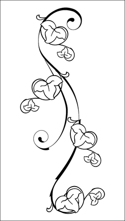 creeping plant: floral element Illustration