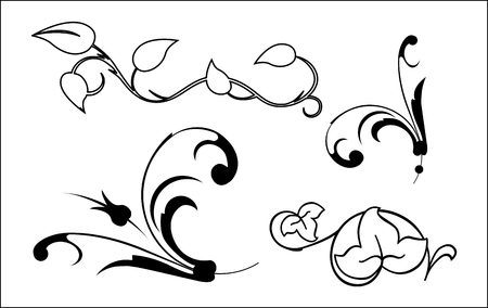 bordure vigne: �l�ments floraux