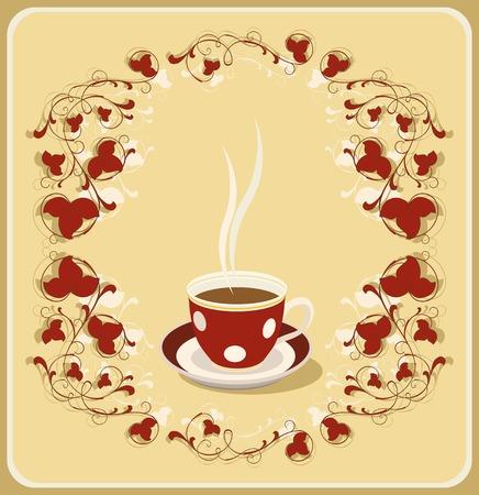for tea:  Illustration of retro cup or tea. Please check my portfolio for more version.