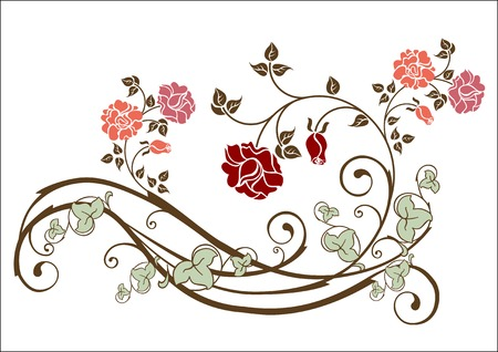 flourish: floral element Illustration