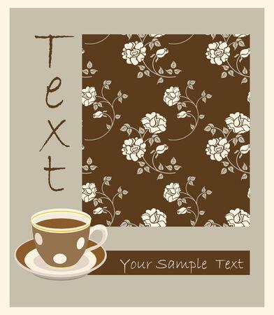 Retro cup of tea Vector