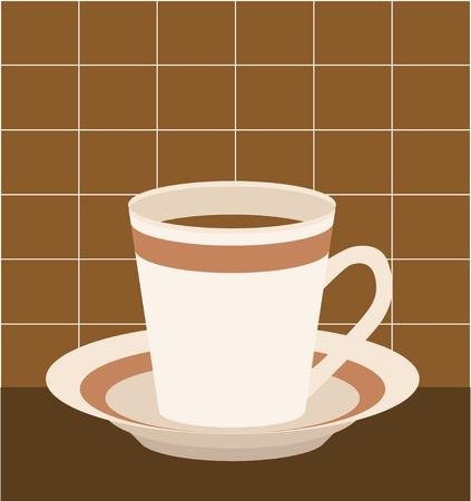 glaze: cup of coffee Illustration