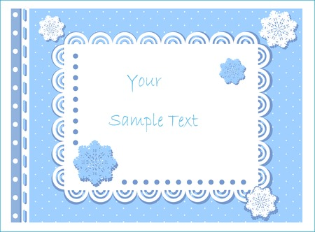 scalloped: winter design Illustration