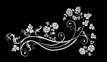 bindweed: floral element for vintage design