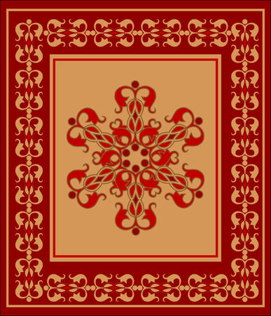 persia: background with ornament Illustration