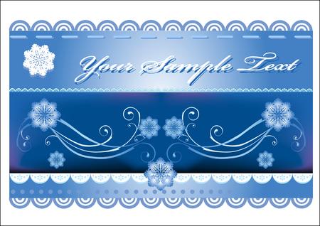 winter background Stock Vector - 5936967